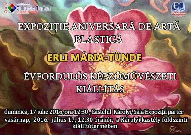 Afis Erli Maria - Expozitie aniversara press