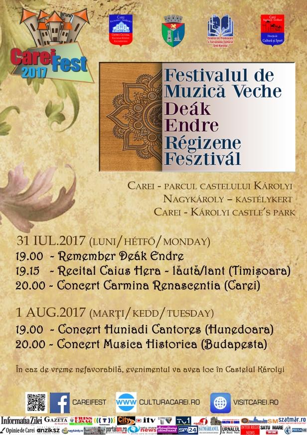 Afis Festival muzica veche 2017