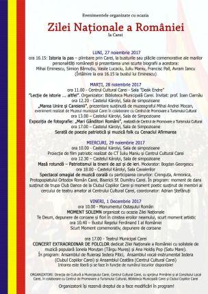 ziua nationala 2017 program complet