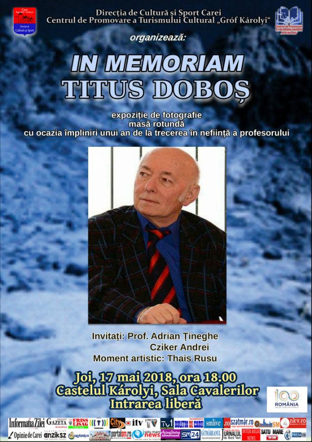 Afis Titus Dobos 2018 In memoriam fin