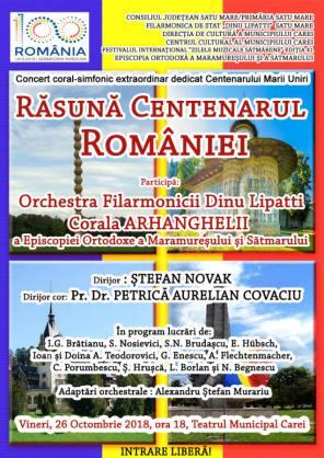 concert centenar octombrie
