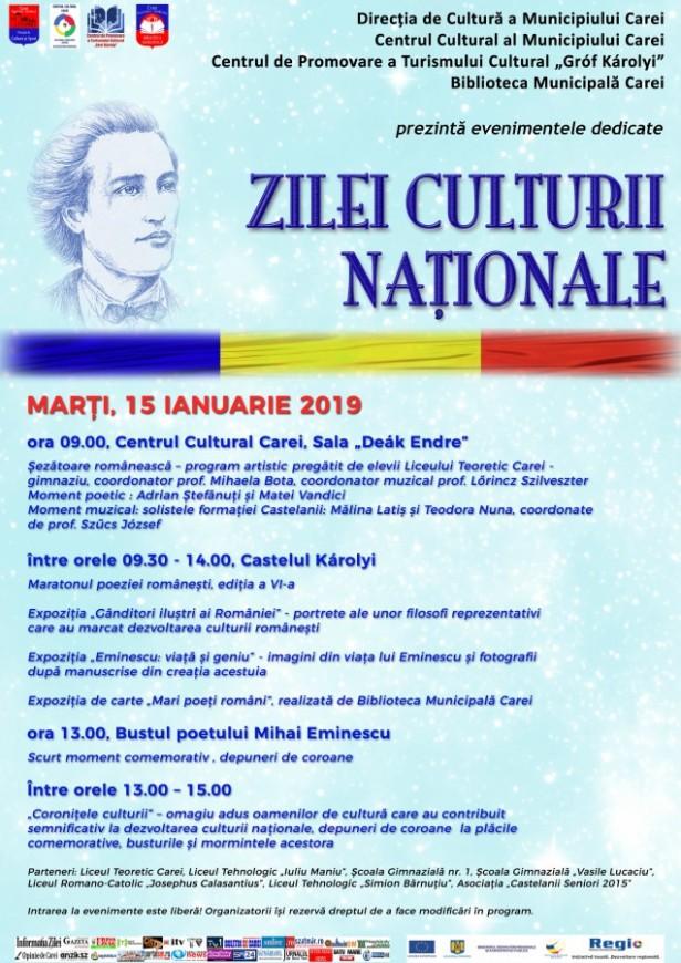 afis ziua culturii 2019