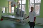 Managrul Elisabeta Raț prezentând noul aparat Roentgen digital cu fluoroscopie