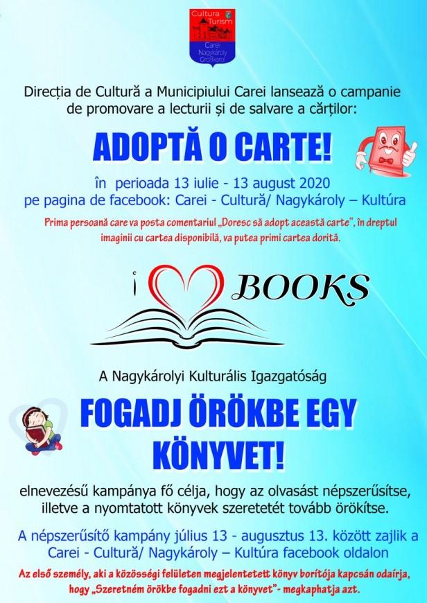 Afis Adopta o carte