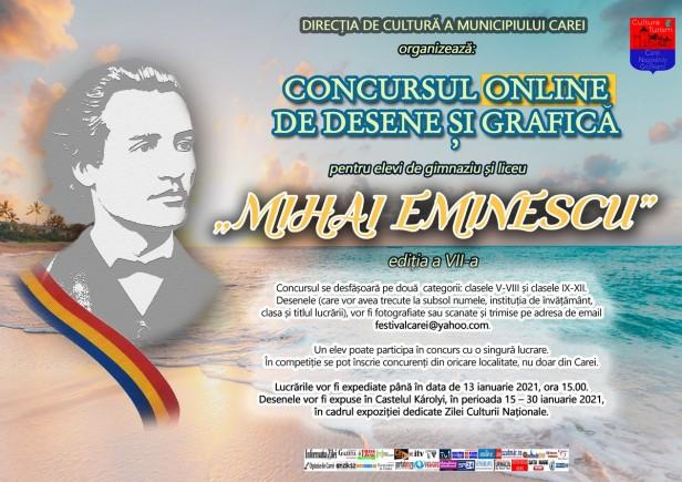 Afis Concurs Desene Eminescu 2021