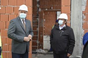 Ministrul Dezvoltării, Cseke Attila, și primarul Eugen Kovacs (foto arhivă)
