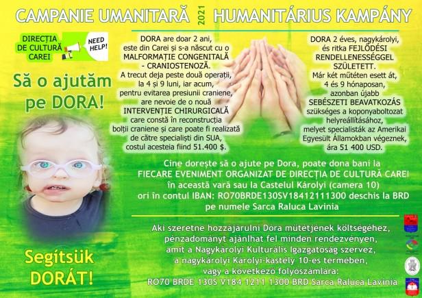 campanie umanitara Dora
