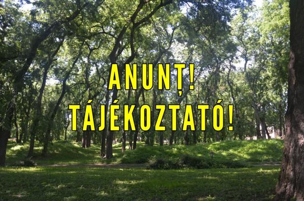 anunt parc