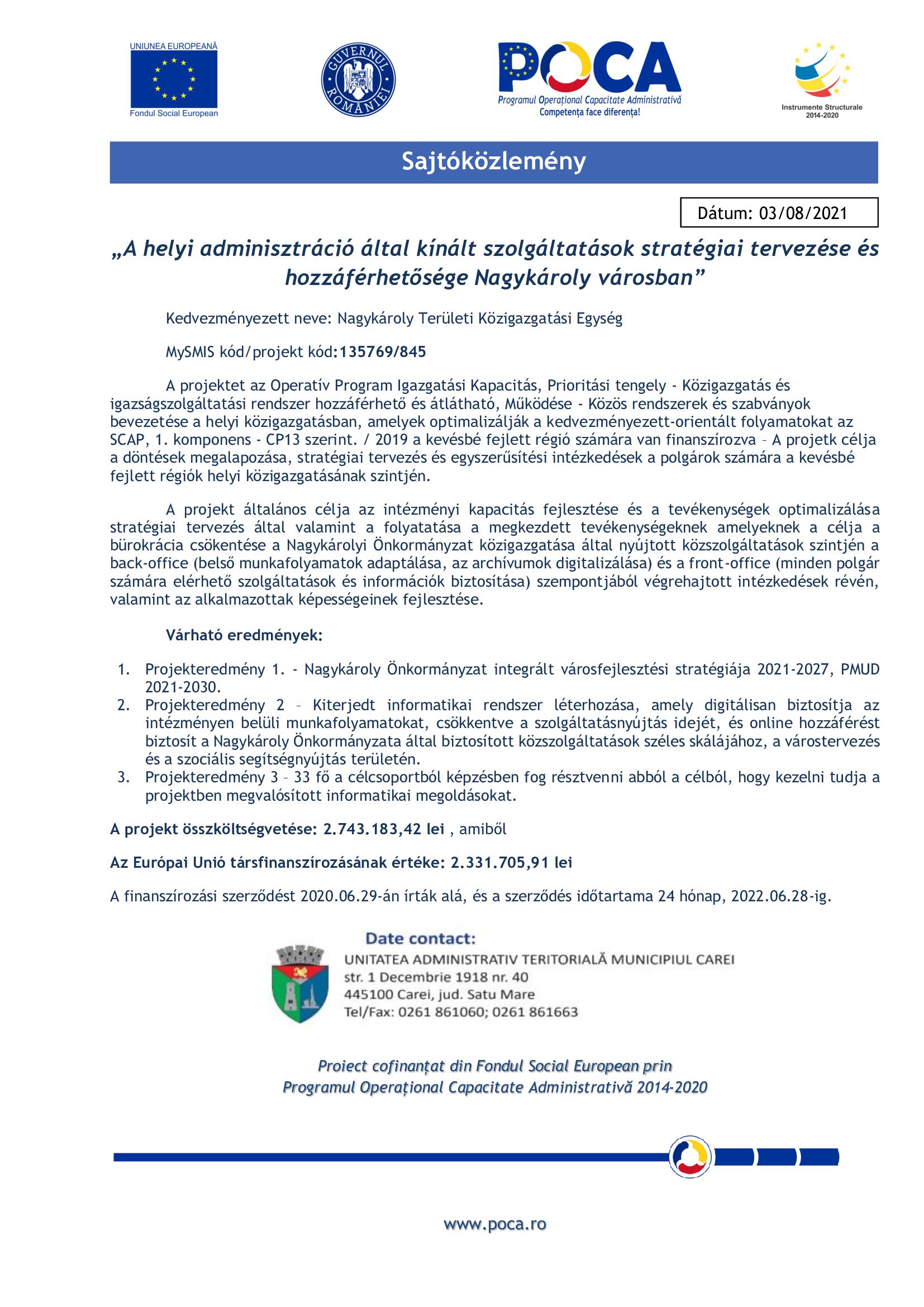 proiect maghiara